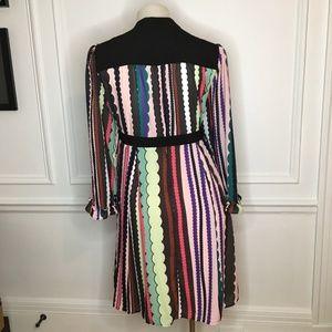 Eloquii Dresses - Eloquii Tie Neck Ruffle Sleeve Dress